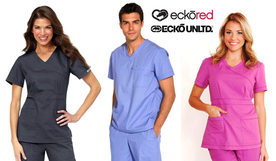 EckoRed Scrubs for Her | Ecko Unltd. Scrubs for Him