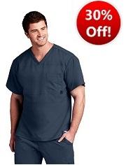 GA0116 Grey's Anatomy Men V-Neck Top<br>Soft  FINAL SALE