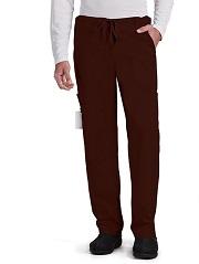 GA0203 Grey's Anatomy Men Zip Fly Drawstring Pants Soft  <BR>TRUFFLE BROWN FINAL SALE