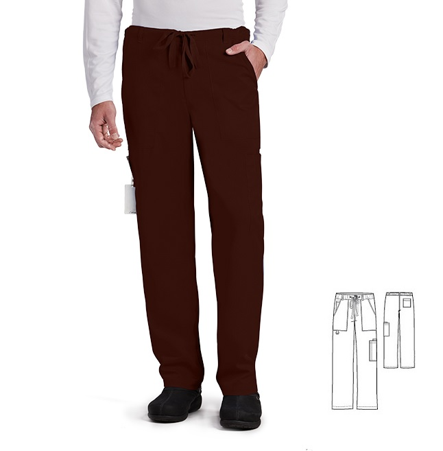 GA0203 Grey's Anatomy Men Zip Fly Drawstring Pants Soft  <BR>TRUFFLE BROWN FINAL SALE