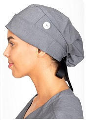 1002 Healing Hand Sage Bouffant Scrub Cap / Hat <br>(for Long Hair)