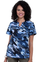 1012PR-CMF Koi Rest Less Top Camo Floral <BR>FINAL SALE