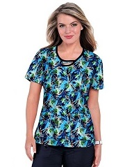 1027PR-WLF Koi Lola Scrub Top Wildflower <br> Summer 2021