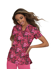 1029PR-IKR Koi Early Energy Top Ikat Floral Rose <BR>Fall 2021