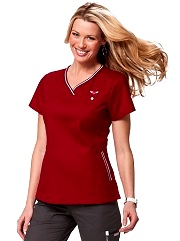 113HRT  Ashley Koi Comfortable Scrub Top (XXS-5XL)