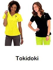 113HRT-TKD  Ashley Koi Comfortable Scrub Top Tokidoki (XS-3XL)