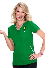 113PNL-EM  Ashley Koi Comfortable Scrub Top Emerald Green