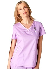 113TKD-LI Ashley Koi Comfortable Scrub Top Lilac <BR> *TOKIDOKI* FINAL SALE