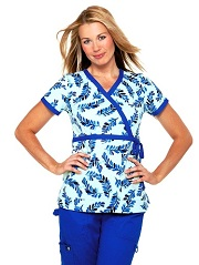 115PR-ADB Koi Kathryn Scrub Top Adrift Blues <br> Summer 2013 (XL)