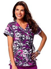 115PR-FEF Koi Kathryn Scrub Top Freesia Floral<br> Fall 2014