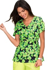 115PR-FHS Koi Kathryn Scrub Top Fresh Squeezed<br> S, M FINAL SALE