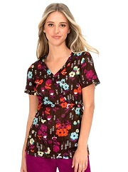 115PR-GNC Koi Kathryn Scrub Top Garden Cover <br> FINAL SALE (XXS,XS,M)