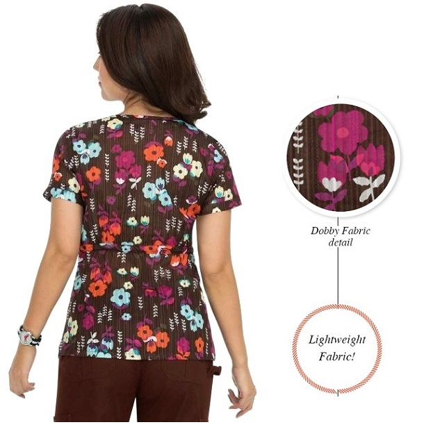115PR-GNC Koi Kathryn Scrub Top Garden Cover <br> FINAL SALE