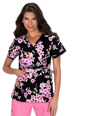 115PRM-ITP Koi Kathryn Scrub Top In The Pink<br> Fall/Winter 2015