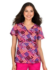 115PR-LVG Koi Kathryn Scrub Top Love Geometry<br> FINAL SALE XS