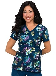 115PR-RBM Koi Kathryn Scrub Top Rainbow Mums <br>Fall/Winter 2016 (XXS - 3X)<BR> FINAL SALE