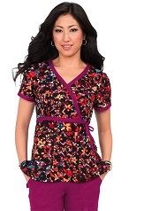 115PR-SDG Koi Kathryn Scrub Top Shaded Garden <br>Fall/Winter 2016 (XXS - 3X)<BR> FINAL SALE