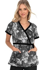 115PR-SYW Koi Kathryn Scrub Top Spidey Web <br> FINAL SALE (XS)