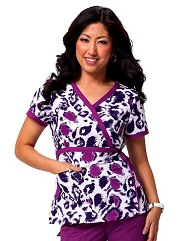 115PR-WDT Koi Kathryn Scrub Top Wild Thing <br> Fall 2014 (L,2X,3X)