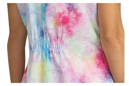 129E-DTD Koi Bridgette Embroidered Top  Daisy Tie Dye<br> Spring 2019