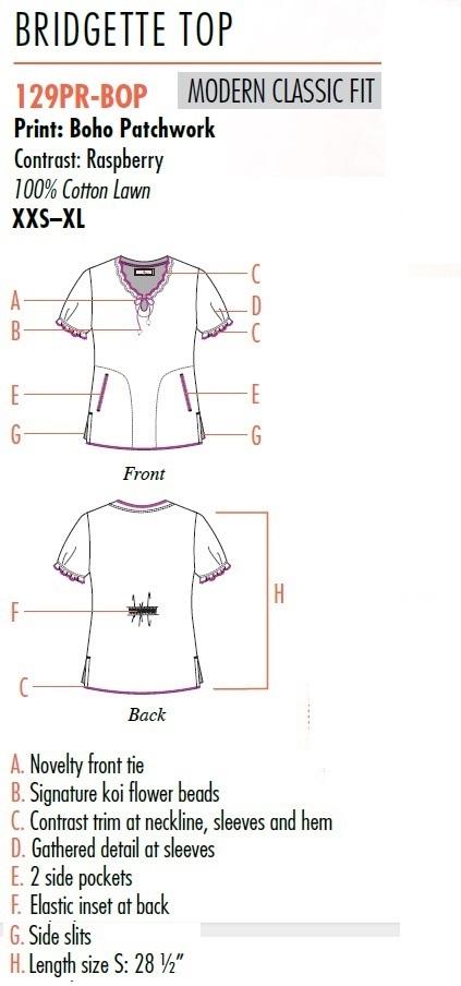 129PR-BOP Koi Bridgette Top Boho Patchwork <br>FINAL SALE