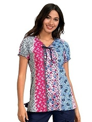 129PR-RRF Koi Bridgette Top Rick Rack Floral<br> Spring 2019 (100% Lightweight Cotton)