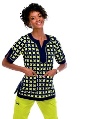 136PR-PIW Koi Tori Scrub Top Pin Wheel<br> Spring 2014