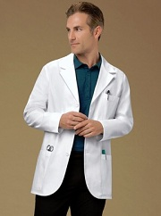C1389 Cherokee Lab Coat Half Length <br>*65 Poly/35 Cotton Thick Twill with Soil Release*