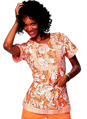 149PR-BRY Koi Bella Scrub Top Silky Sateen Bright Eyelet<BR> Summer 2014