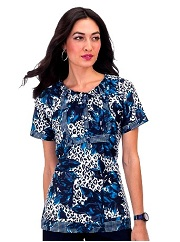 149PR-PNR Koi Bella Scrub Top Silky Sateen Panther Rose<BR> Fall 2014