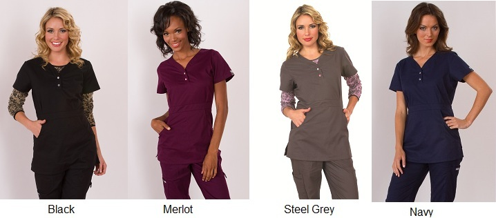 175 Koi Scrubs Top Justine (FINAL SALE) 3XL