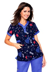 176PR-MLA Koi Kourtney Scrub Top Memory Lane <br> Summer 2013 (L,XL)