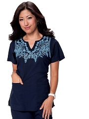 192-NAVY Koi Arianna Scrub Top Navy <br> Summer 2014