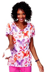196PR-WCB Koi Diana Scrub Top Water Color Butterfly <br> Summer 2014