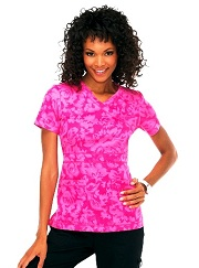 197PR-MRF Koi Julia Scrub Top Midnight Rose Flamingo<br> Spring 2014