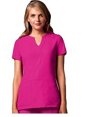 GA2116 Grey's Anatomy Signature Notch Neck Top <br>Soft and Stretch  XS,2X,3X <BR>FINAL SALE