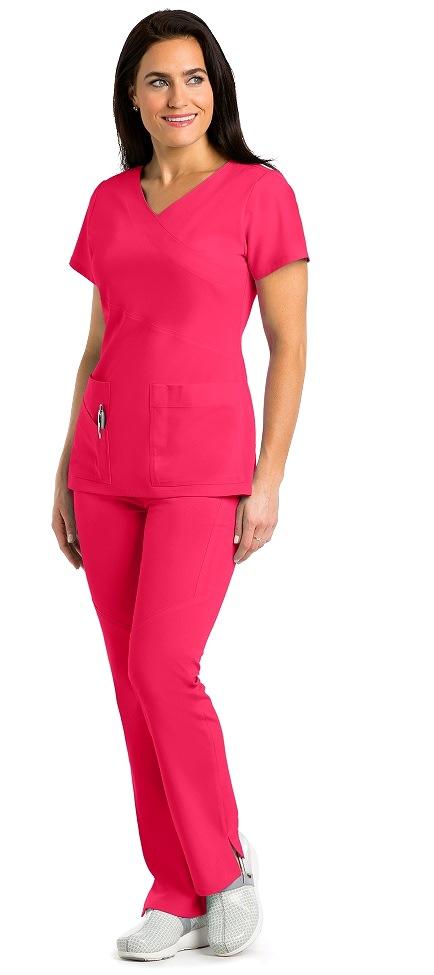 GA2130 Grey's Anatomy Signature Color Block Scrub Top  Soft Stretch *STRETCH*