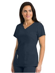GA2130 Grey's Anatomy Color Block Scrub Top  Soft