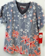GA2138-FWA  Grey's Anatomy Top Flower Field FINAL SALE (XS,M)