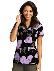 GA2138-PRP Grey's Anatomy Top Pretty Poppy