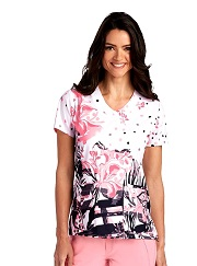 GA2138-WRF Grey's Anatomy Print Scrub Top Wild Reef 4XL
