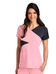 GA2140 Grey's Anatomy Signature Color Block Scrub Top  Soft XS - 5XL <br> *STRETCH* FINAL SALE