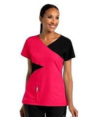 GA2140 Grey's Anatomy Color Block Scrub Top  Soft XS - 2XL <br> 4 Colors