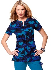 242PR-DWC Koi  Naomi Scrub Top Driftwood Camo<br> Fall 2014 *Stretch*