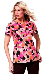 246PR-ABP Koi Scrubs Shasha Top Abstract Petals <br> Summer 2014