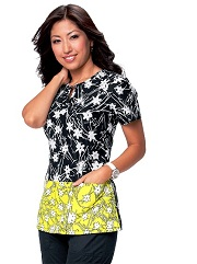 248PR-XRY Koi Regina Scrub Top Yellow XRay<br> Summer 2014