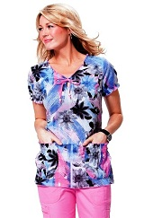 251PR-BSH Koi Brittany Brush Stroke Top <br> Summer 2014 (S,M)