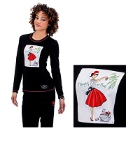 258PLM-NGN Koi Stacy Tee Naughty or Nice