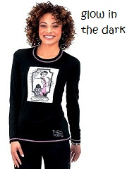 258PLM-SHD Koi Stacy TShirt <br>Glow in the Dark Halloween