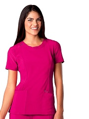 2624A Cherokee  Round Neck Top <br> *Certainty Antimicrobial Stretch*